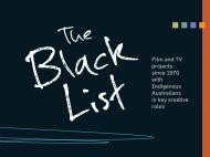 The Black List - Screen Australia
