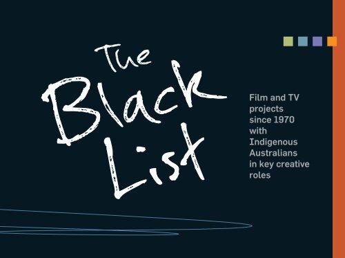 The Black List - Screen Australia
