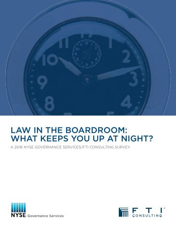 LAW IN THE BOARDROOM WHAT KEEPS YOU UP AT NIGHT?