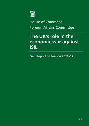 The UK's role in the economic war against ISIL
