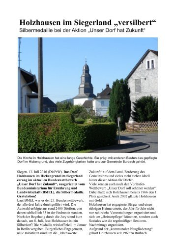 Holzhausen im Siegerland: Silber