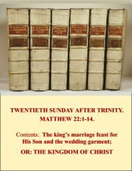TWENTIETH SUNDAY AFTER TRINITY.