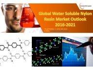 Global Water Soluble Nylon Resin Market Outlook 2016-2021