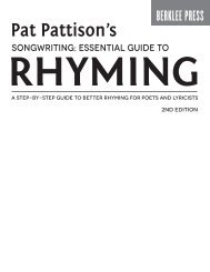 Pat Pattison's Songwriting: Essential Guide to Rhyming - 2nd Edition: A Step-by-Step Guide to Better Rhyming for Poets and Lyricists