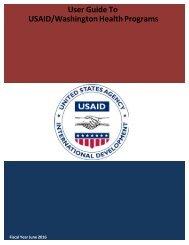 User Guide To USAID/Washington Health Programs