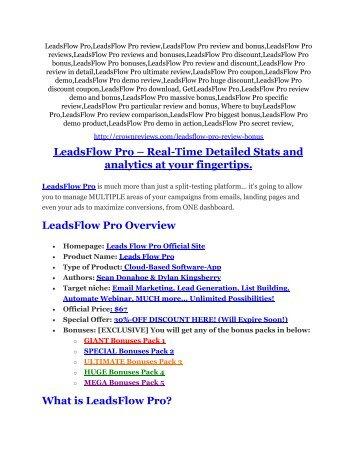 4LeadsFlow Pro review & (GIANT) $24,700 bonus