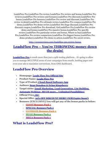 5LeadsFlow Pro review & SECRETS bonus of LeadsFlow Pro