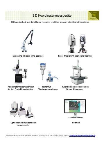 Katalog 3D Messtechnik