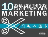 Things to Cut From Your Marketing