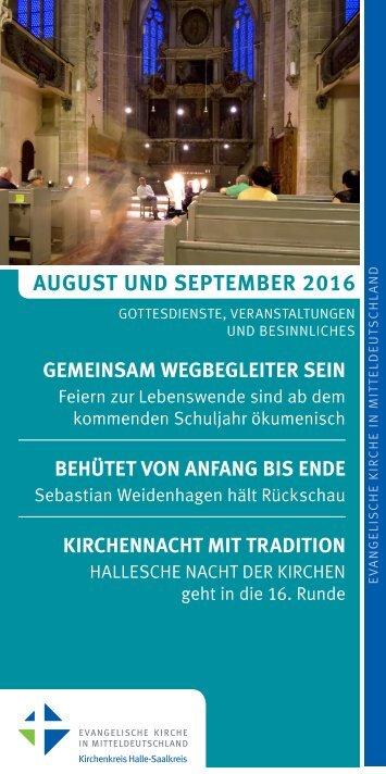 Programm des Evang. Kirchenkreises Halle-Saalkreis für August und September 2016