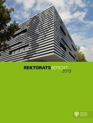 Rektoratsbericht 2015