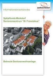 Informationsbroschüre Betreute Seniorenwohnanlage