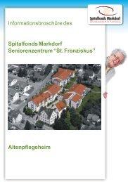 Informationsbroschüre Altenpflegeheim