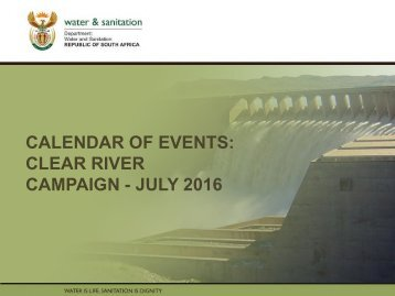 CLEAR RIVER CAMPAIGN - JULY 2016