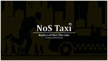 NoS Taxi - Pre build Taxi Script like Uber & Ola!