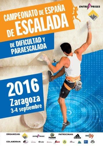CAMPEONATO DE ESPAÑA DE DIFICULTAD Y PARAESCALADA 2016