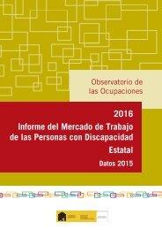 2016 Informe del Mercado de Trabajo de las Personas con Discapacidad Estatal