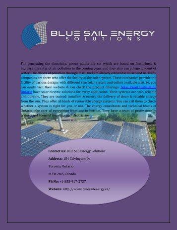 Best Price Solar Panel Installation In Ontario