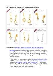 Buy Diamond Earrings Online for Indian Women – Damor.in