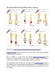 Buy Diamond Hoop Earrings Online in India – Damor.in