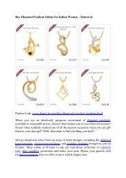 Buy Diamond Pendant Online for Indian Women – Damor.in