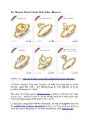 Buy Diamond Rings for Indian Girls Online – Damor.in