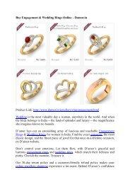 Buy Engagement & Wedding Rings Online – Damor.in