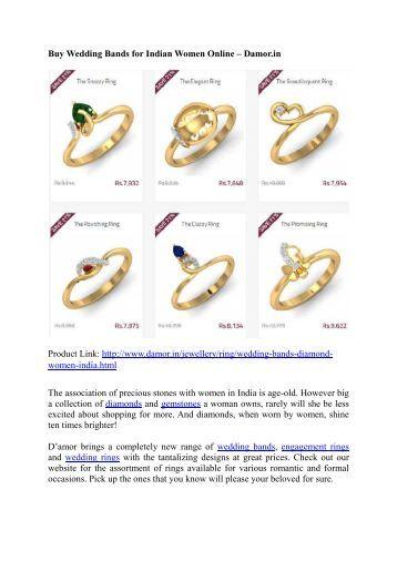 Buy Wedding Bands for Indian Women Online – Damor.in