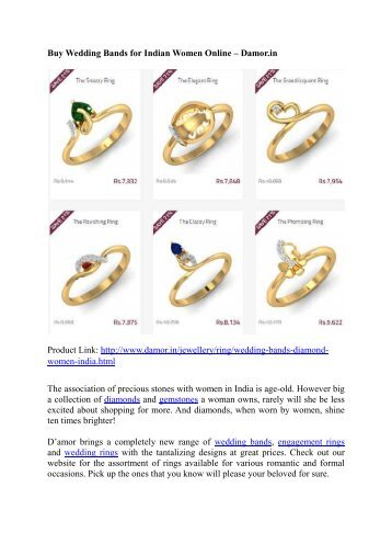 Buy Wedding Bands for Indian Women Online – Damor.in