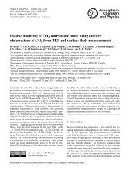 Inverse modeling of CO2 sources and sinks using satellite ...