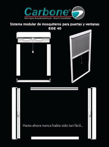 Catálogo de Sistema Modular de Mosquiteros