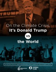 On the Climate Crisis It's Donald Trump the World