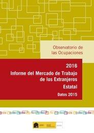 2016 Informe del Mercado de Trabajo de los Extranjeros Estatal