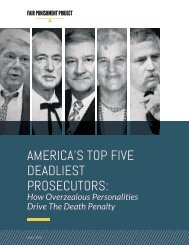 AMERICA'S TOP FIVE DEADLIEST PROSECUTORS