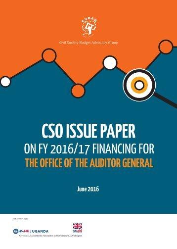 CSO ISSUE PAPER