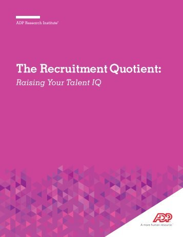 The Recruitment Quotient