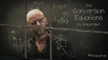Conversion Equations