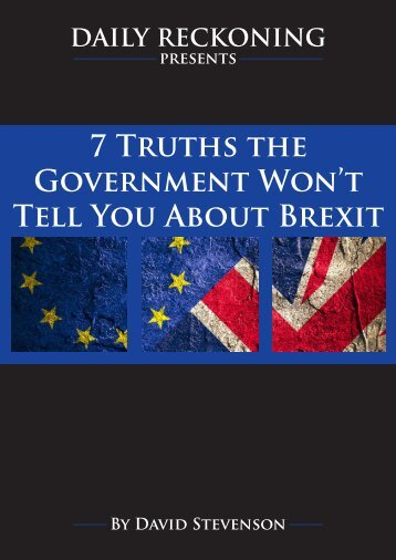 Government Won't Tell You About Brexit