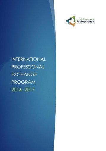 PROFESSIONAL EXCHANGE PROGRAM 2016- 2017