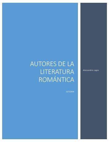 autores romanticistas