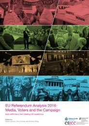 EU Referendum Analysis 2016 Media Voters and the Campaign