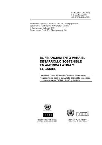 El Financiamiento para el Desarrollo Sostenible en América ... - Cepal