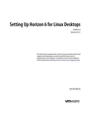 Setting Up Horizon 6 for Linux Desktops