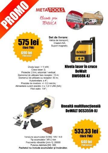 Prețuri promoționale la sculele profesionale DeWalt