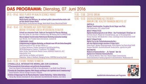 Konferenz PHARMA MARKETING 2016