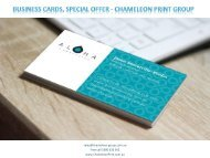 Business cards, Special Offer - Chameleon Print Group