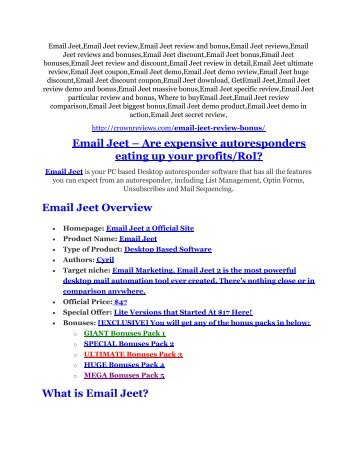 Email Jeet Review and (FREE) Email Jeet $24,700 Bonus
