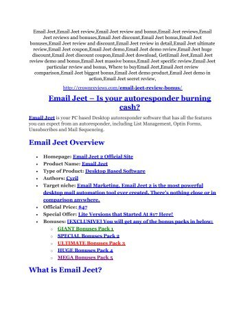 Email Jeet review & bonuses - cool weapon