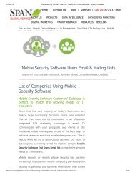 Buy Mobile Security Software using Companies from Span Global Services
