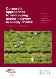 Corporate approaches to addressing modern slavery in supply chains